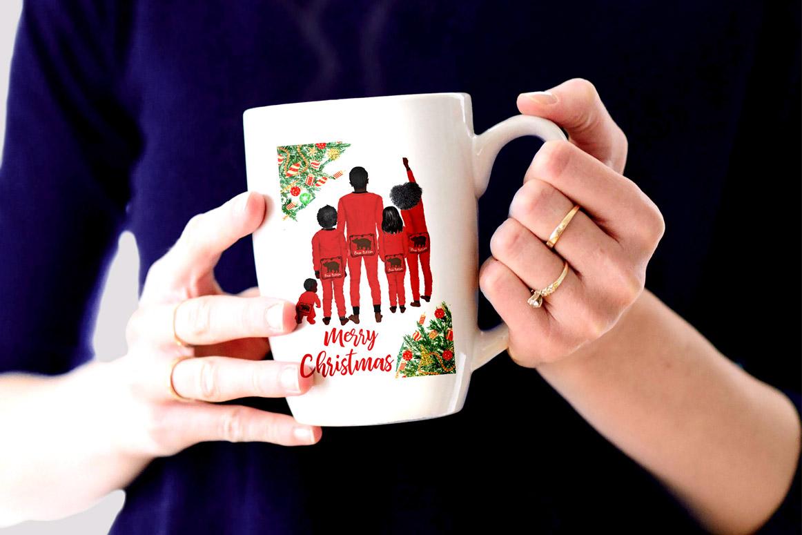 Watercolor Christmas Family Clipart Christmas Mug designs example image 4