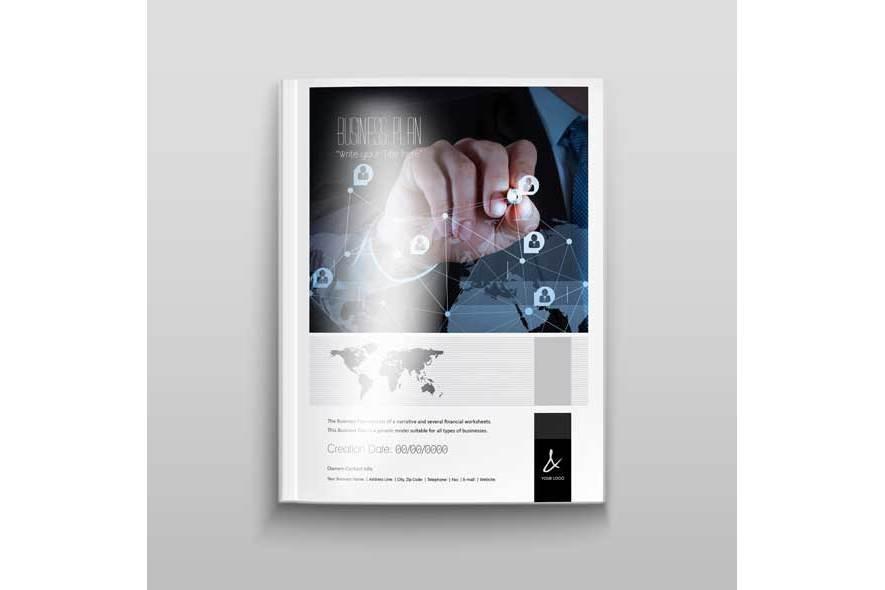 Business Plan Template - A4 Portrait example image 2
