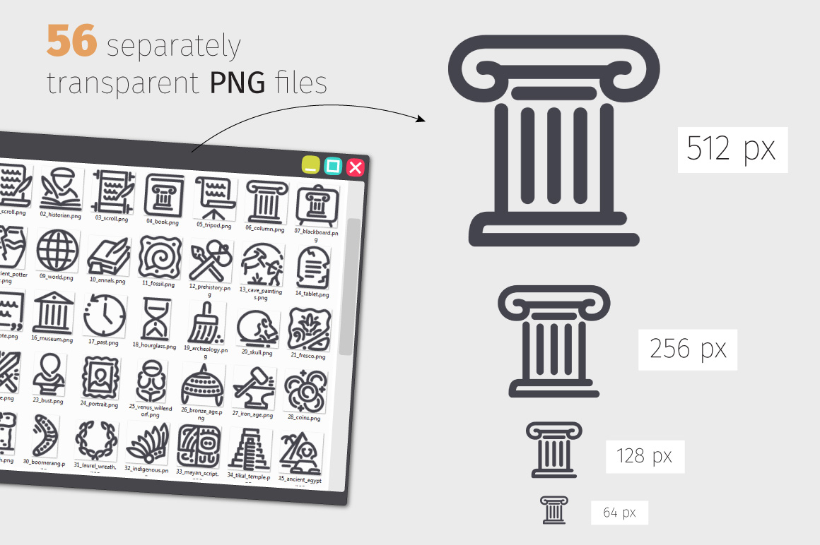 History Line Icons Set example image 3