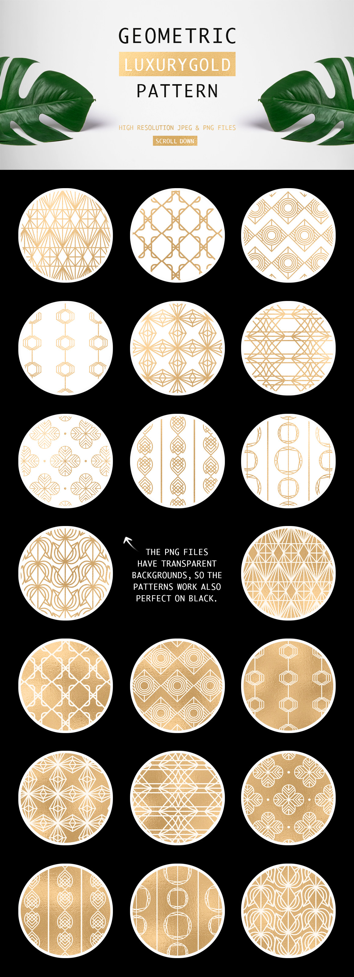 Geometric Luxurygold Pattern example image 5