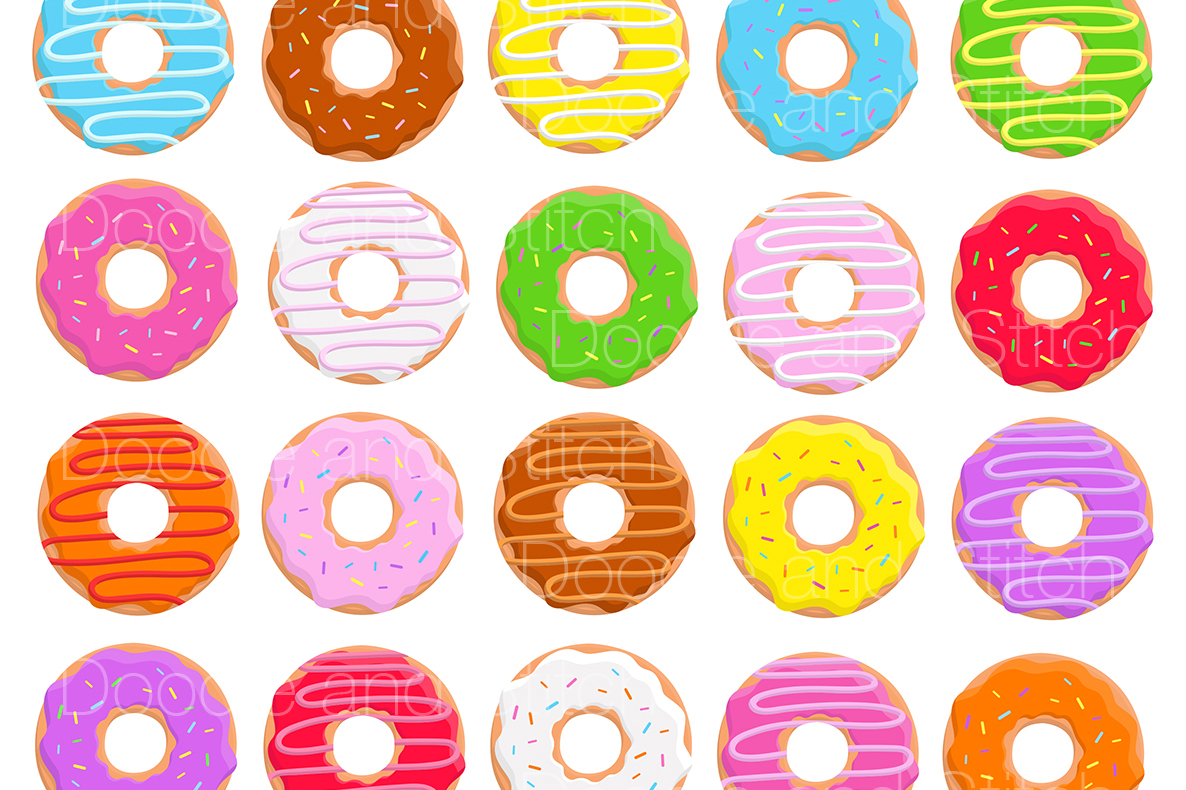 Donut Clipart Illustrations example image 2