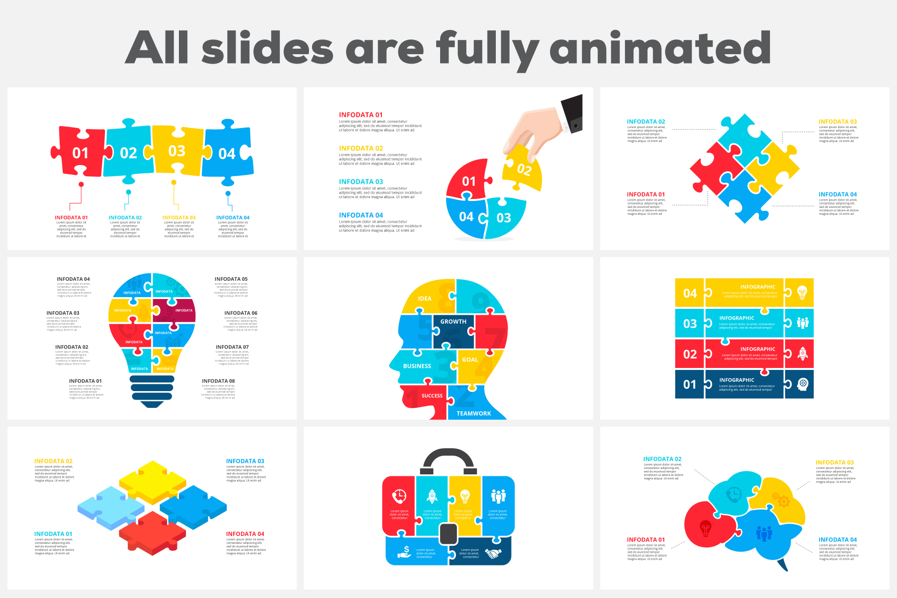 Puzzle Animated Infographics example image 3