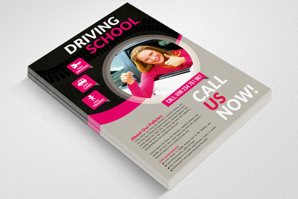 Driving Learning School Flyers example image 3