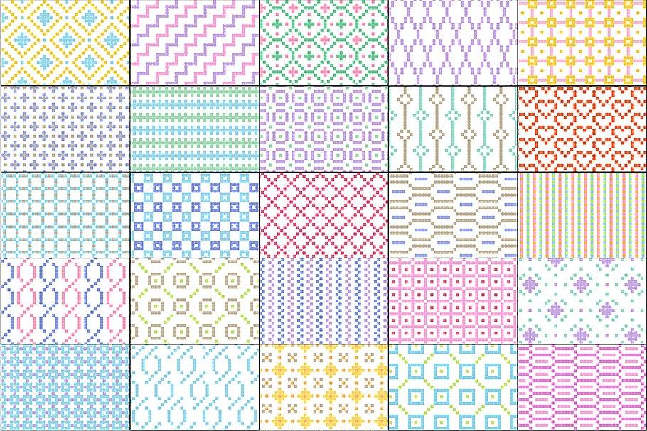 Small Seamless Geometric Patterns example image 4