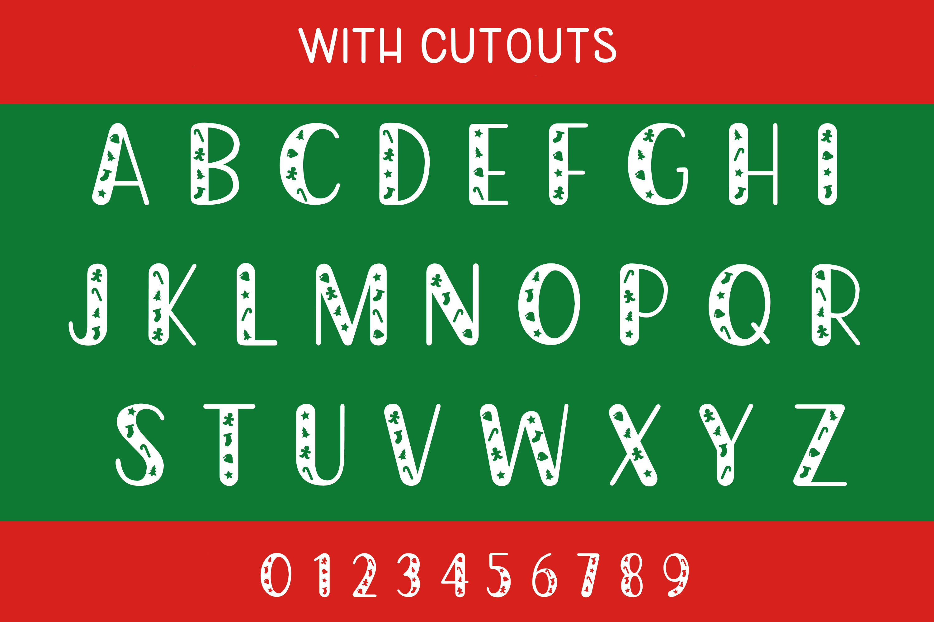 Christmas Cookie Cutters - A Christmas Font example image 2