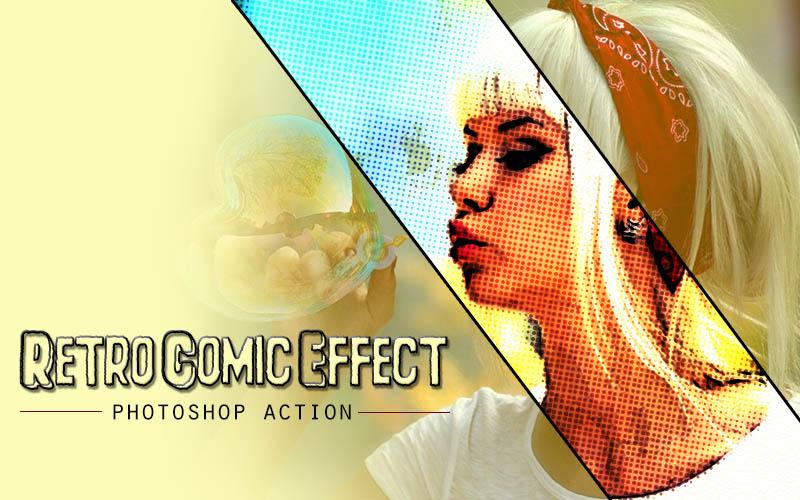 Retro Comic Photoshop Action example image 4