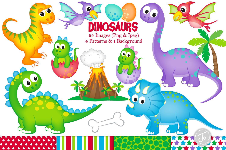 Dinosaur clipart, Dinosaurs graphics & Illustrations, T-rex example image 1