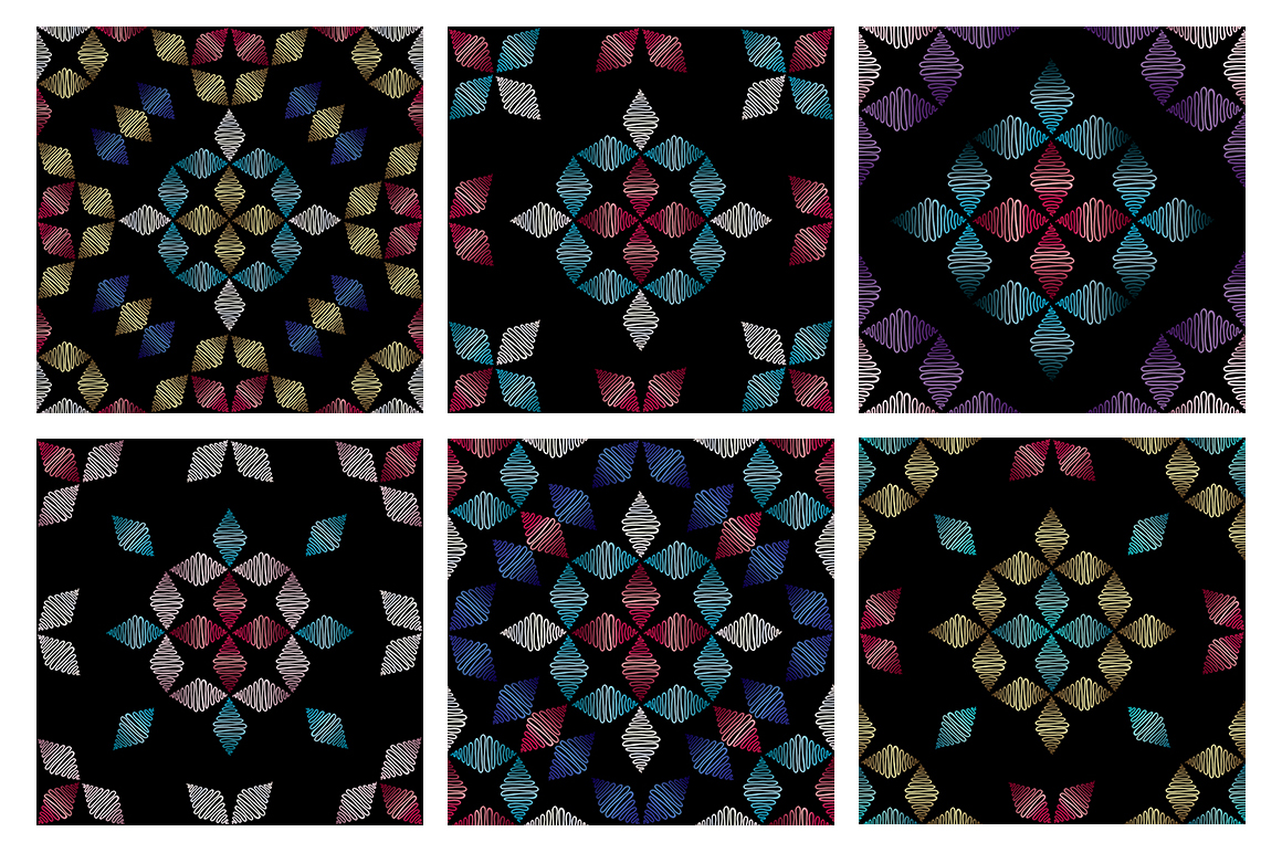 55 ornaments patterns collection example image 8