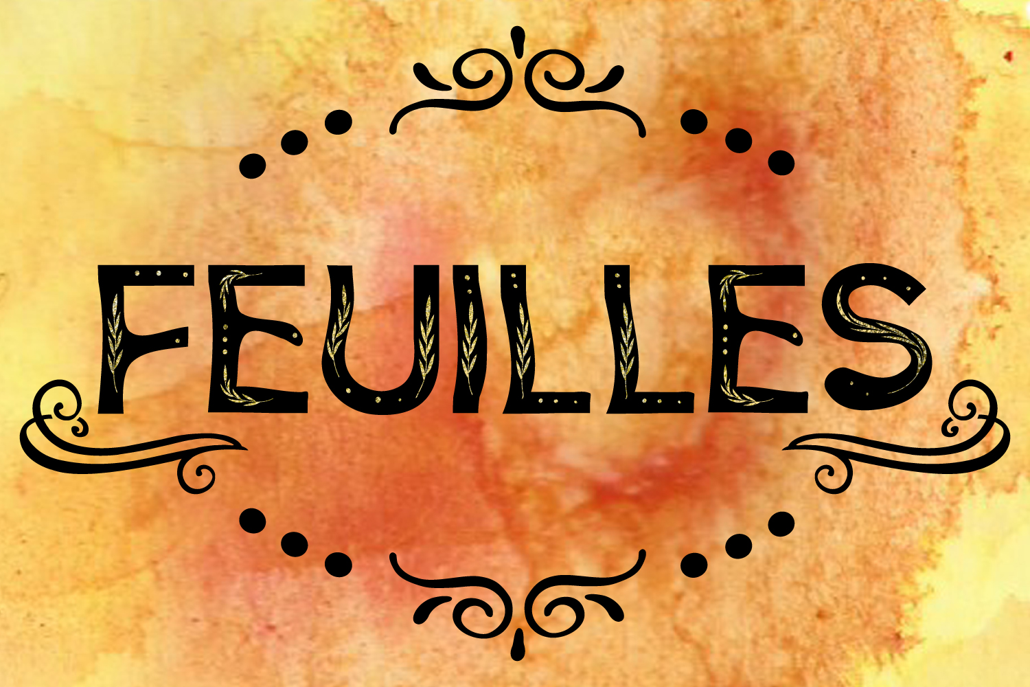Feuilles Font example image 1