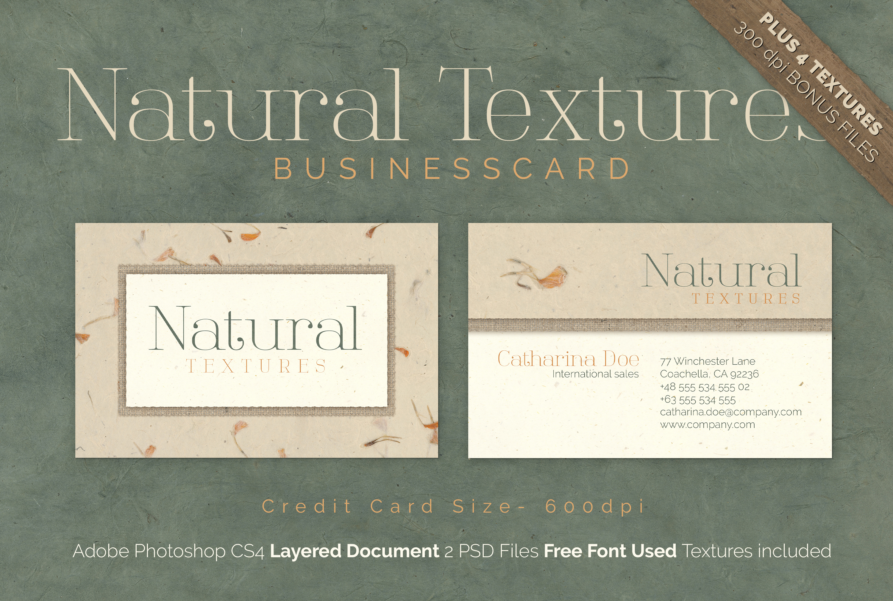 Natural Texture - Business Card example image 1