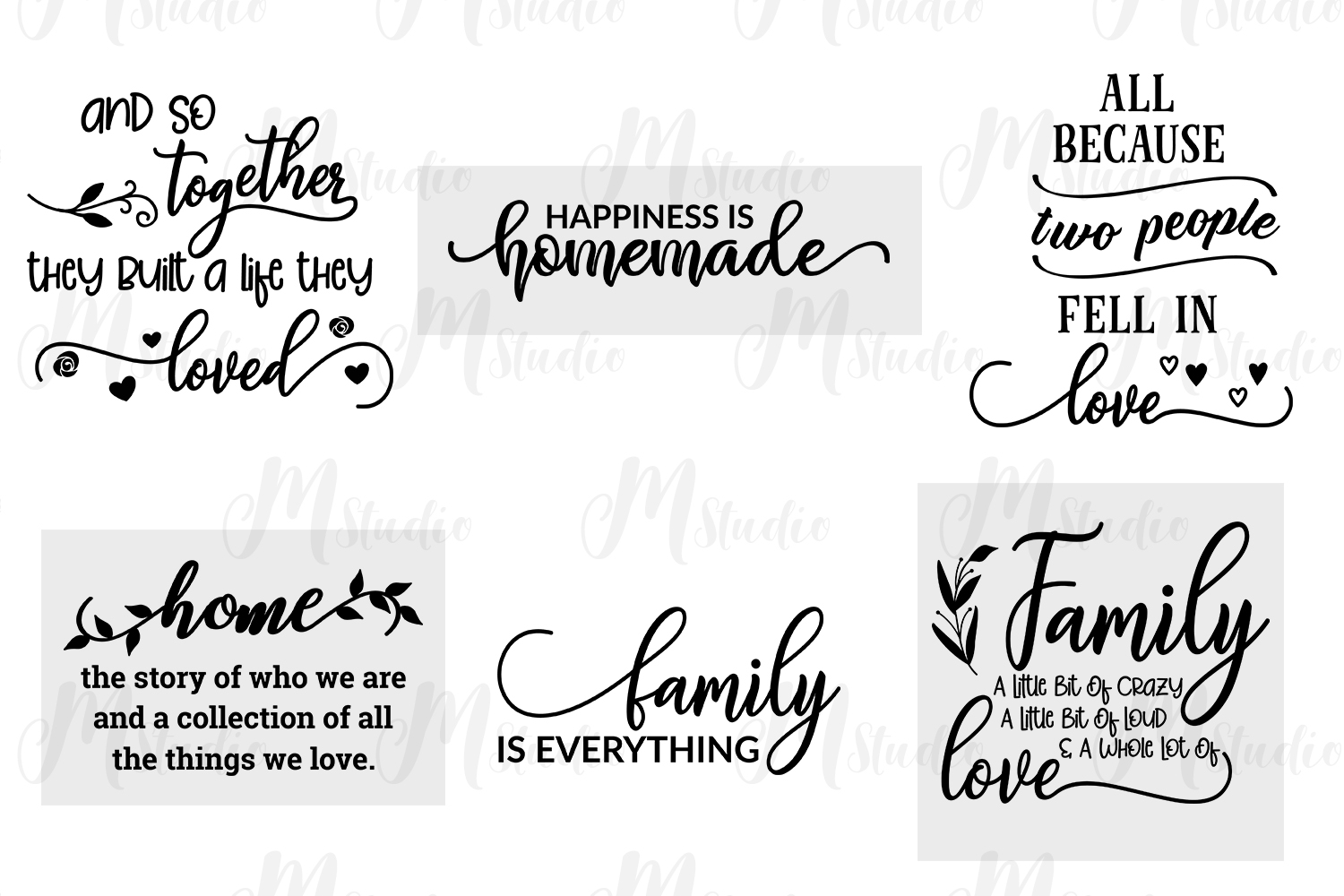 Family Quotes svg bundle example image 6