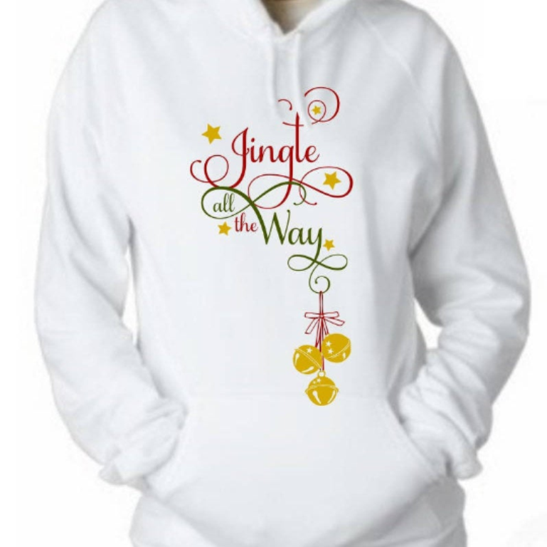 Jingle All The Way Christmas Holiday Quote SVG example image 3