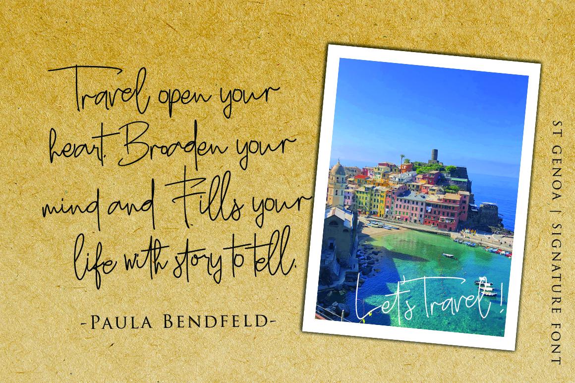 St. Genoa - Luxury Signature Font example image 6