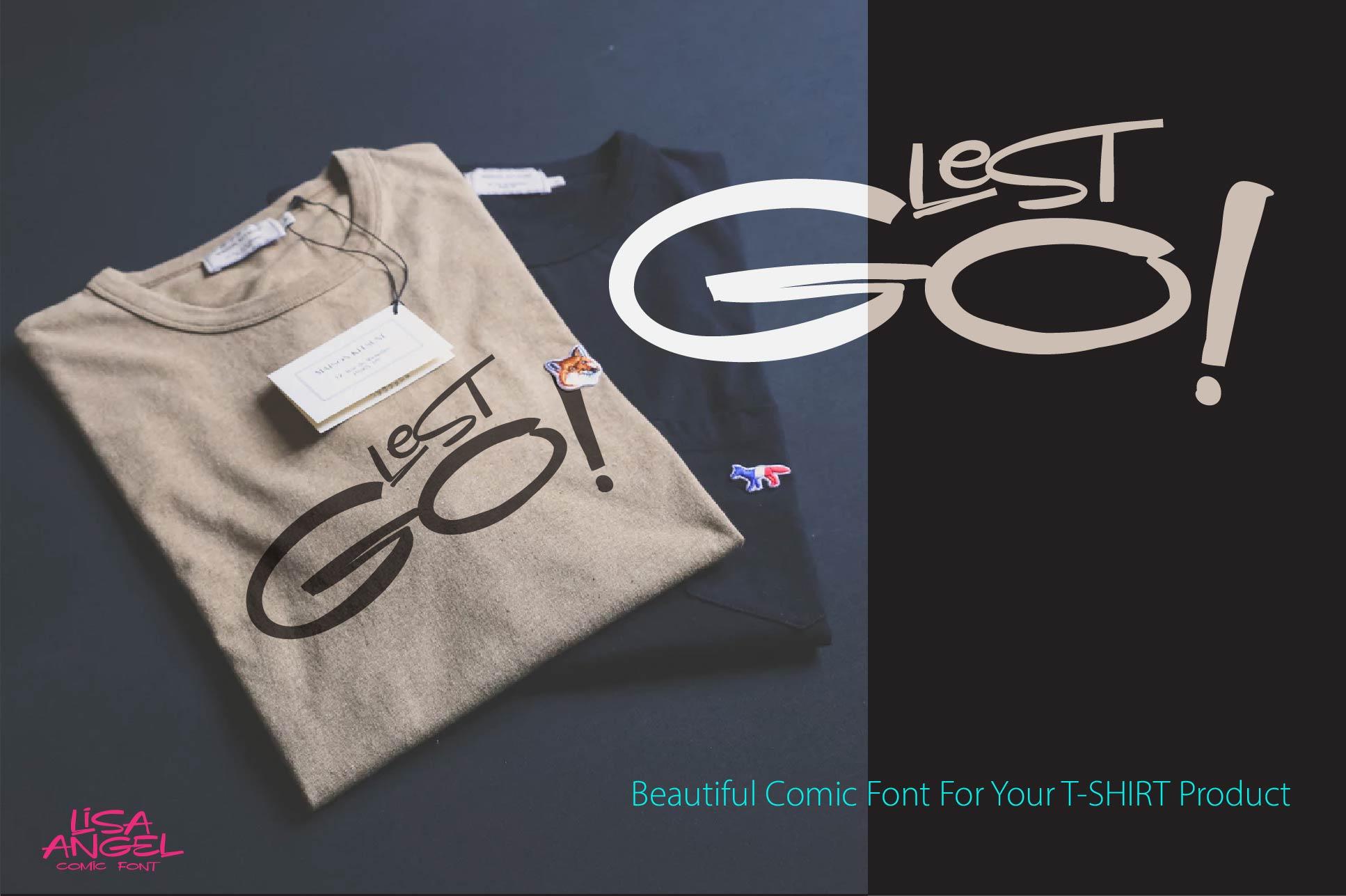 LISA ANGEL - comic font example image 5