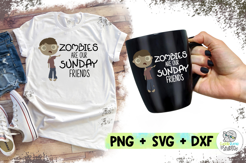 Zombies are for Sundays | Zombie SVG | Zombie Design example image 1