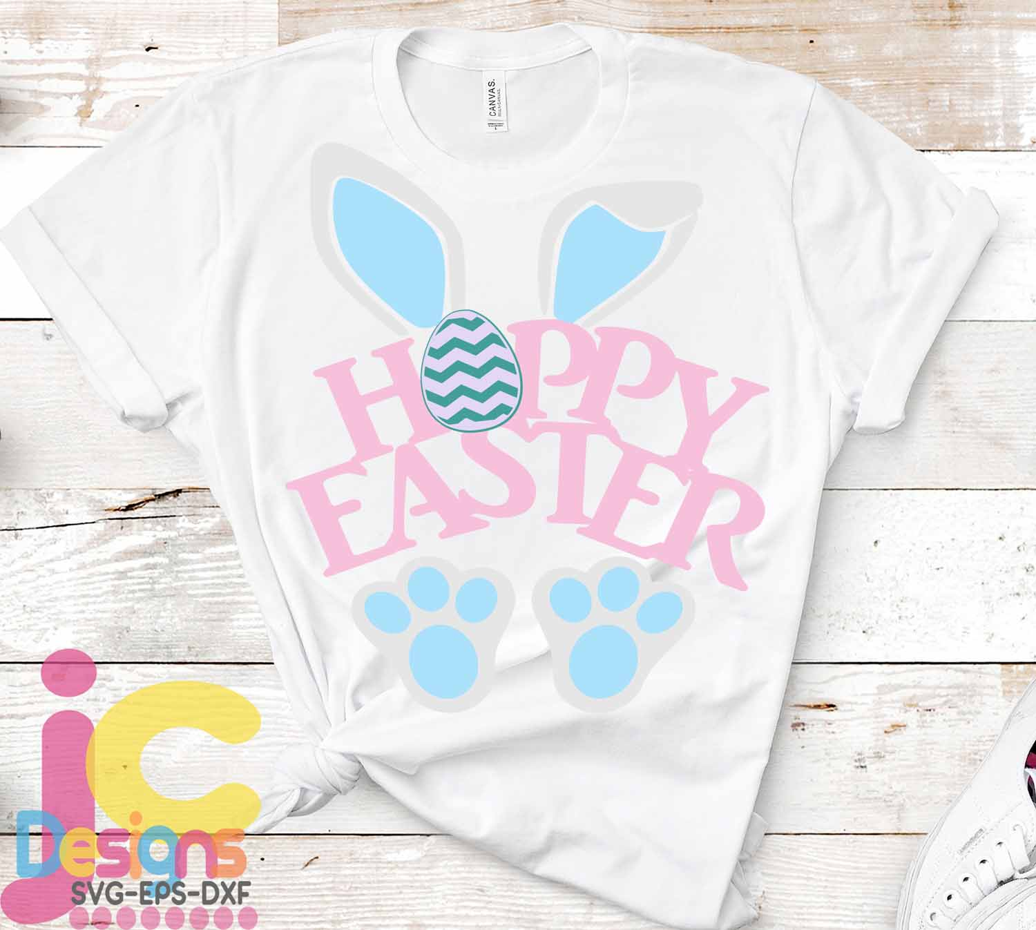 Easter SVG, Hoppy Easter SVG - Bunny ears Happy Easter svg example image 2