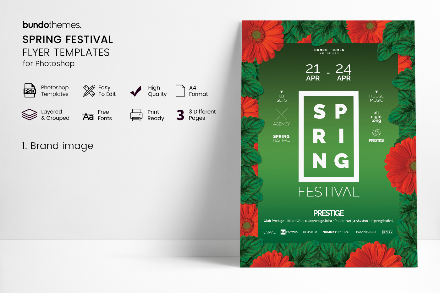 Spring Festival Flyer Template example image 3