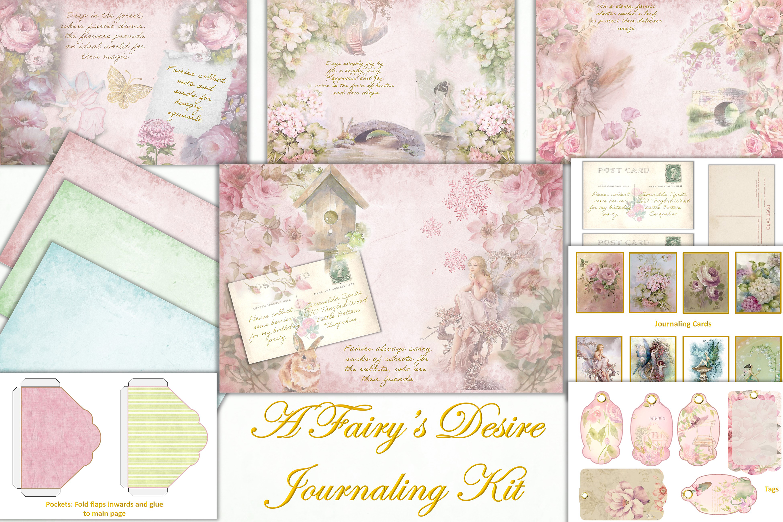 Printable Fairy Journaling Kit, Free Ephemera and PNGs example image 1