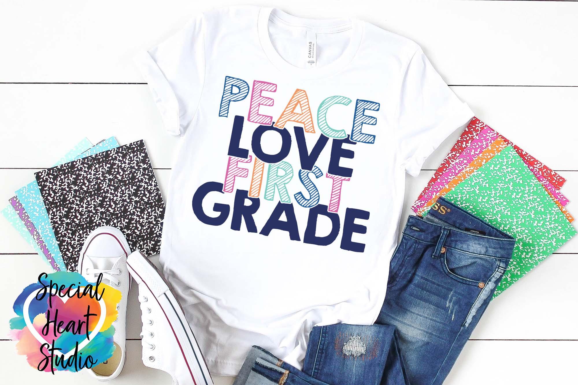 Peace Love Elementary - A School or Teacher SVG Bundle example image 4