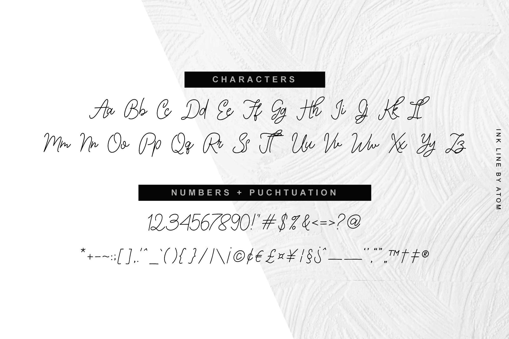 Ink Line   Modern Script Font example image 3