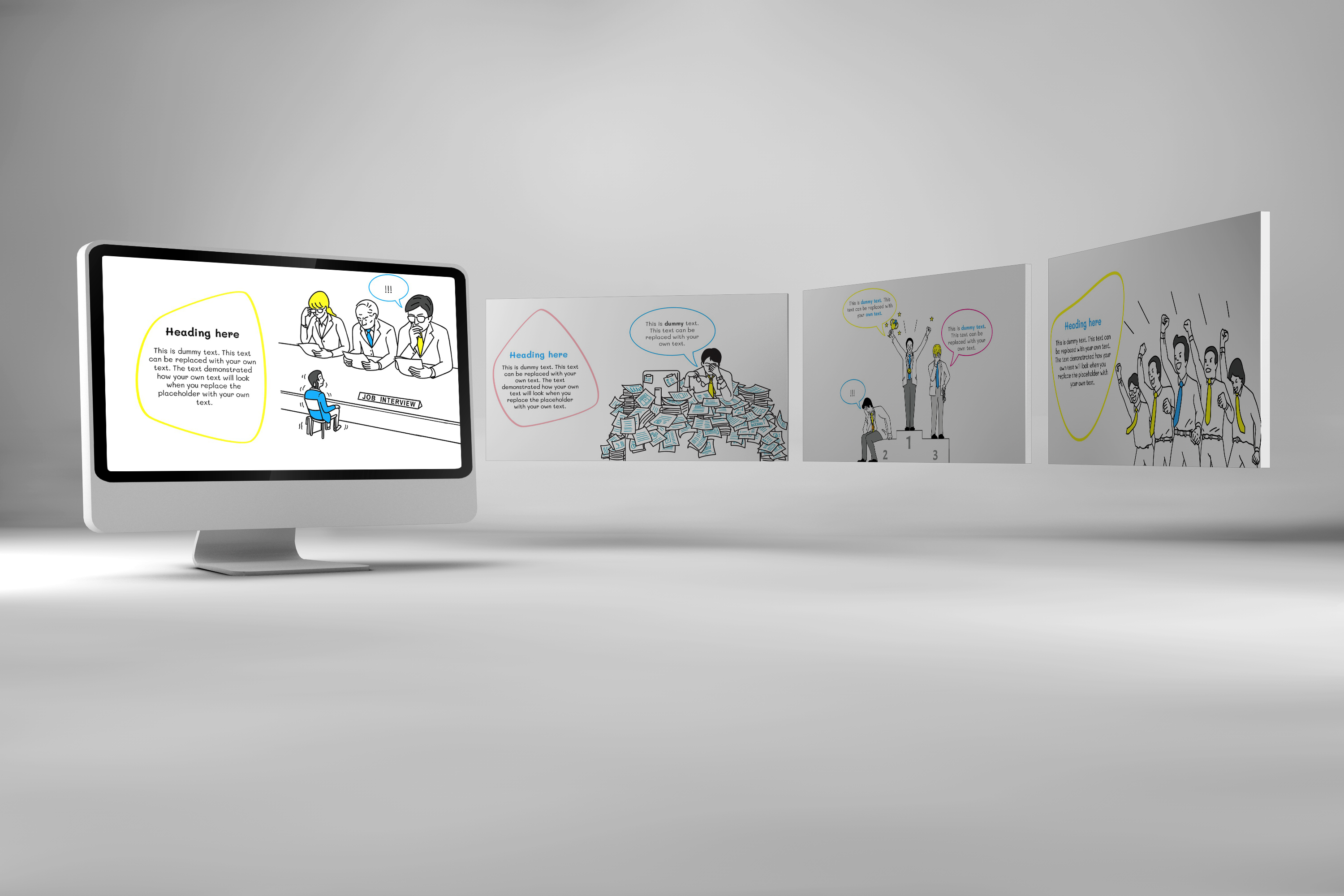 Office Doodle PowerPoint Template example image 3