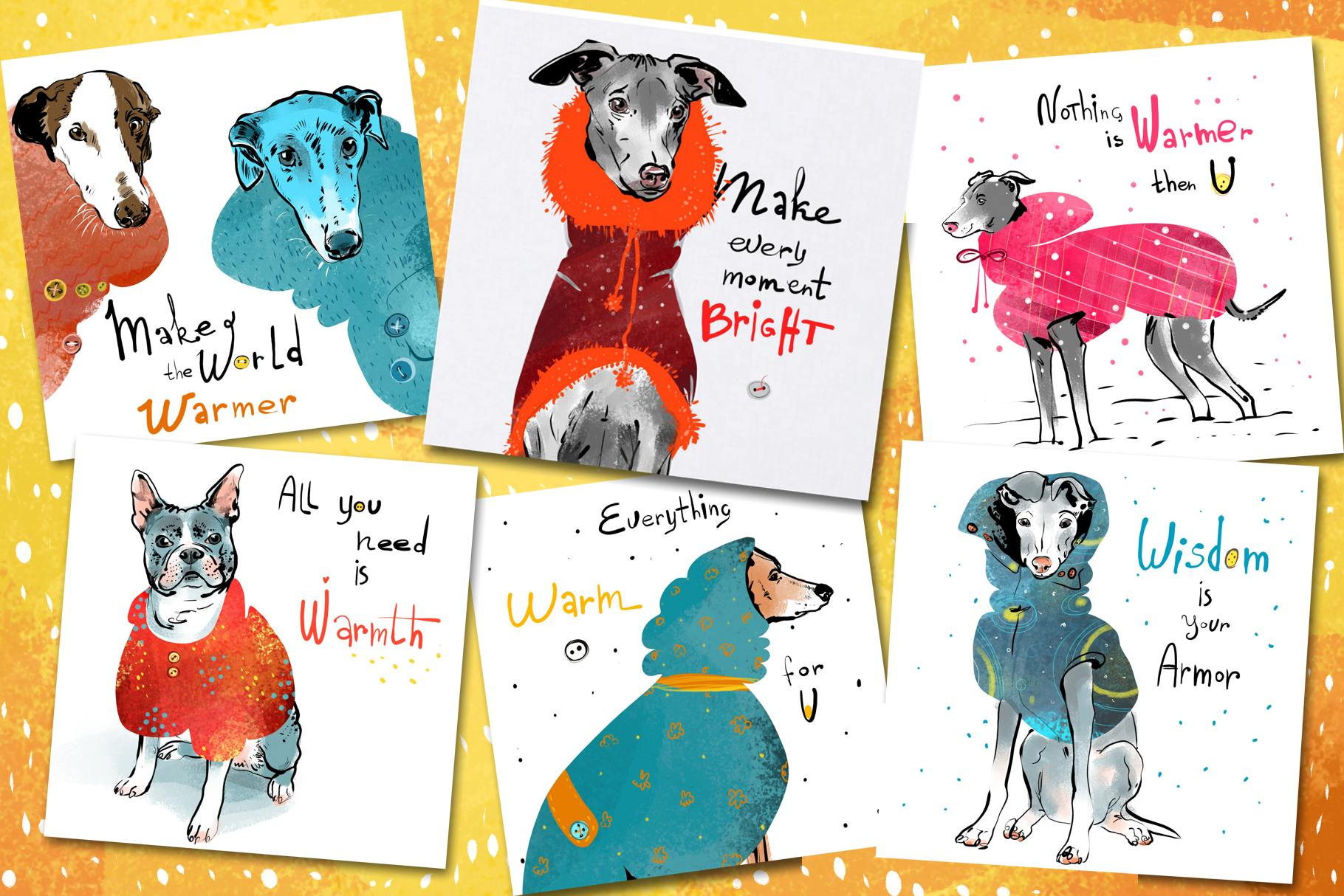 BUNDLE 4 in 1 - dogs and cats cards example image 13
