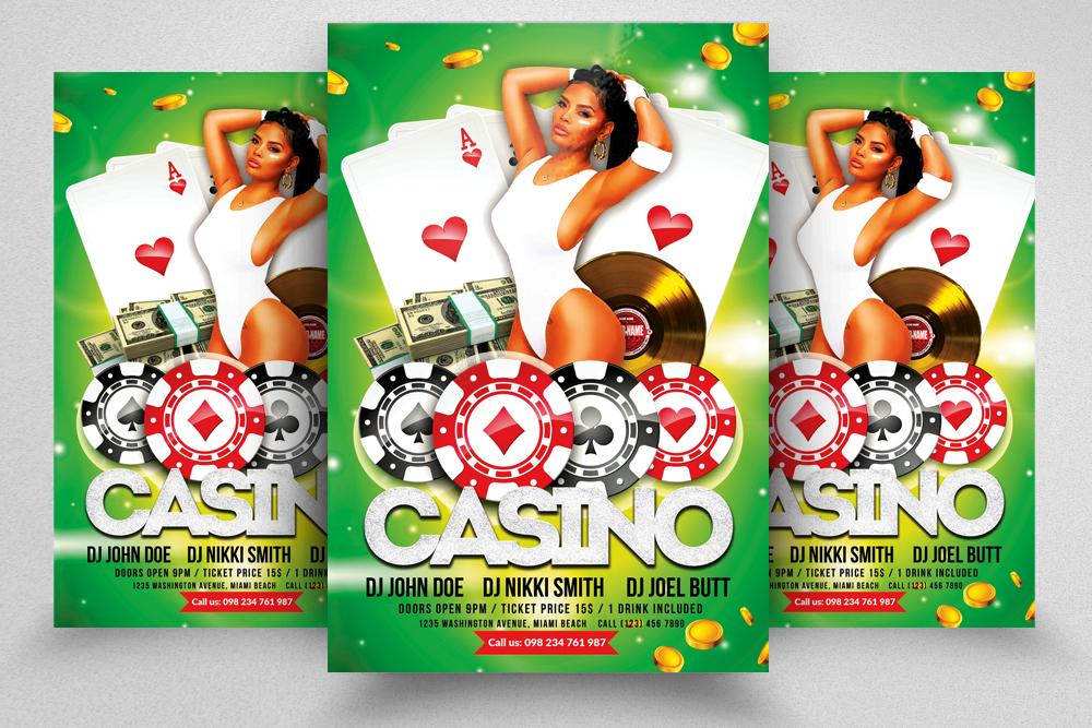 10 Casino Flyers Bundle example image 2