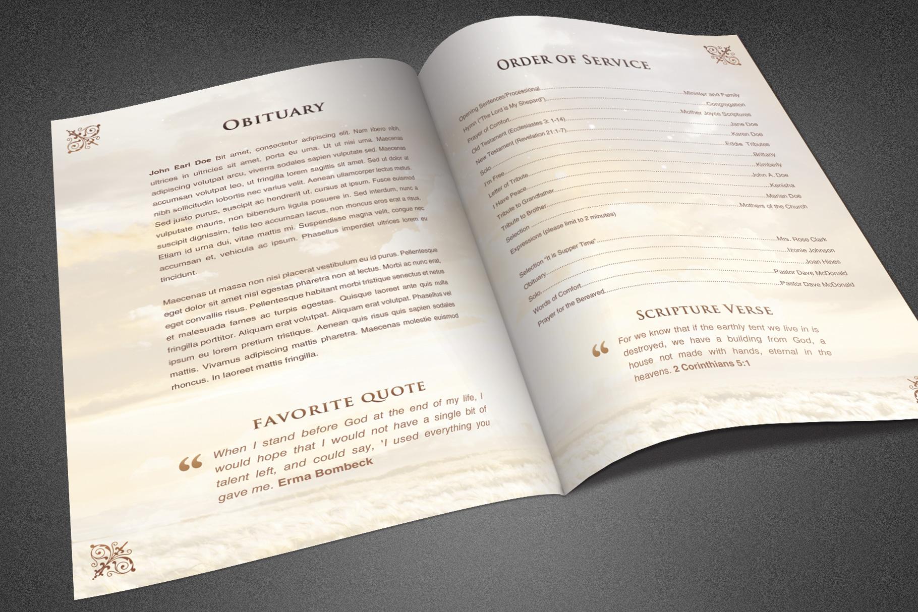 Heavens Gift Funeral Program example image 3
