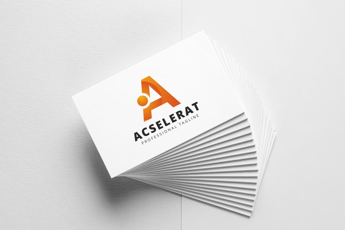 Acselerat A Letter Logo example image 3