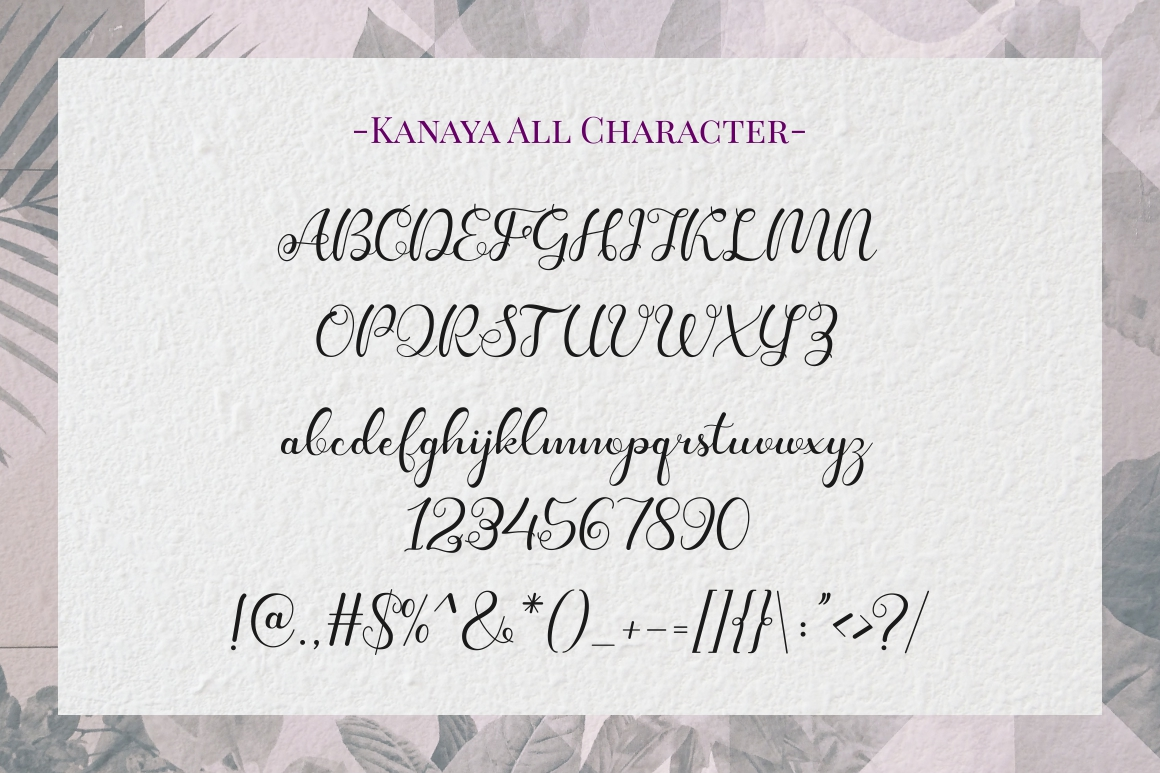 Kanaya - Romantic Font example image 13