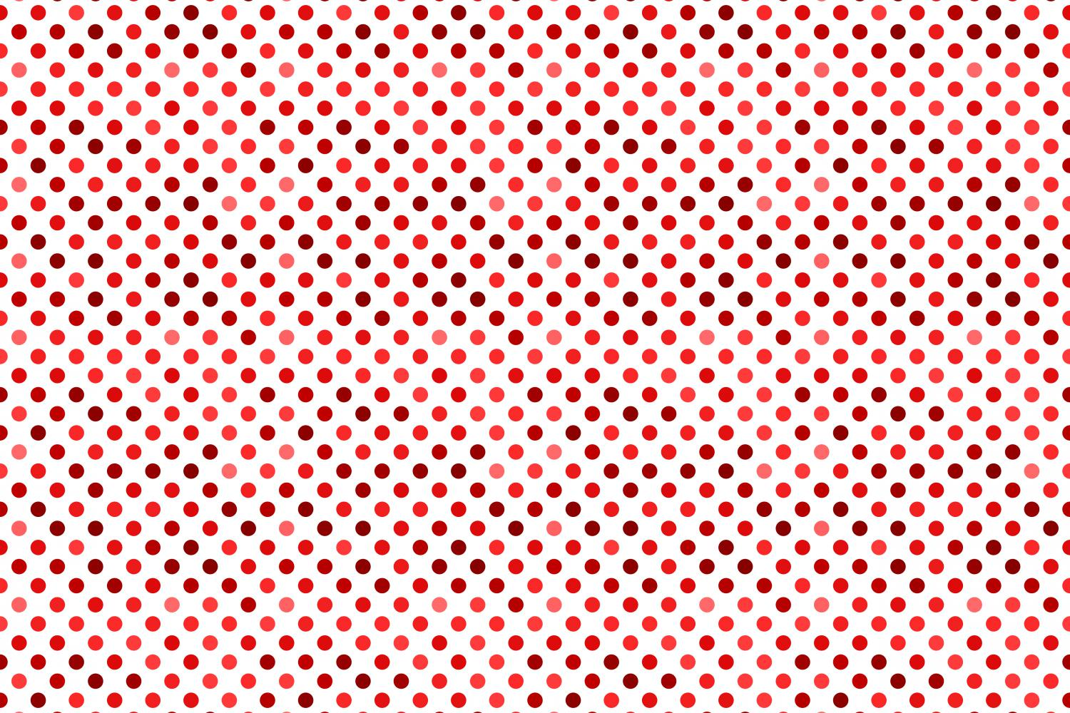24 Seamless Red Dot Patterns example image 4