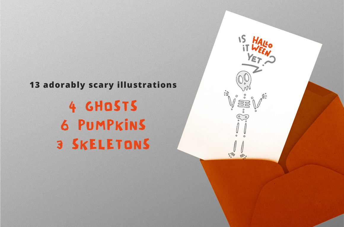 Adorably Scary Halloween Pack example image 3