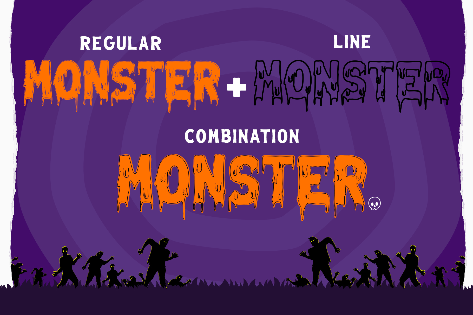 Melted Monster - Halloween Pack Layered Font example image 2