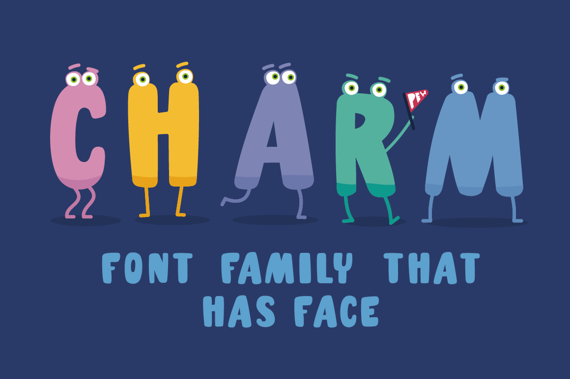 Charm - illustrated letter font example image 2