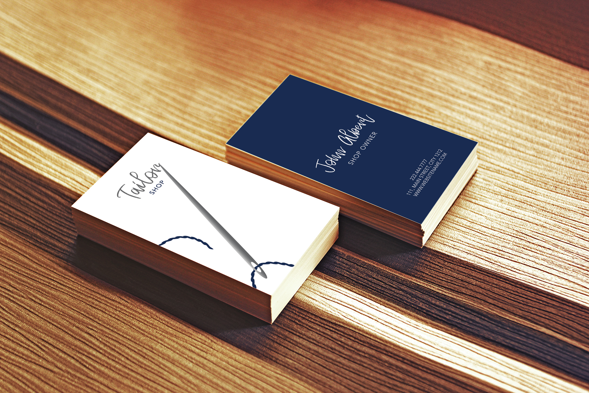 Tailor shop creative business card example image 3