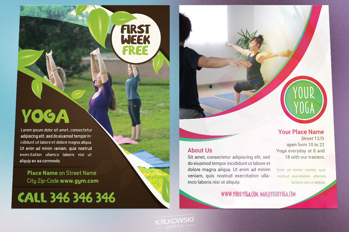 Yoga Flyers Bundle example image 3