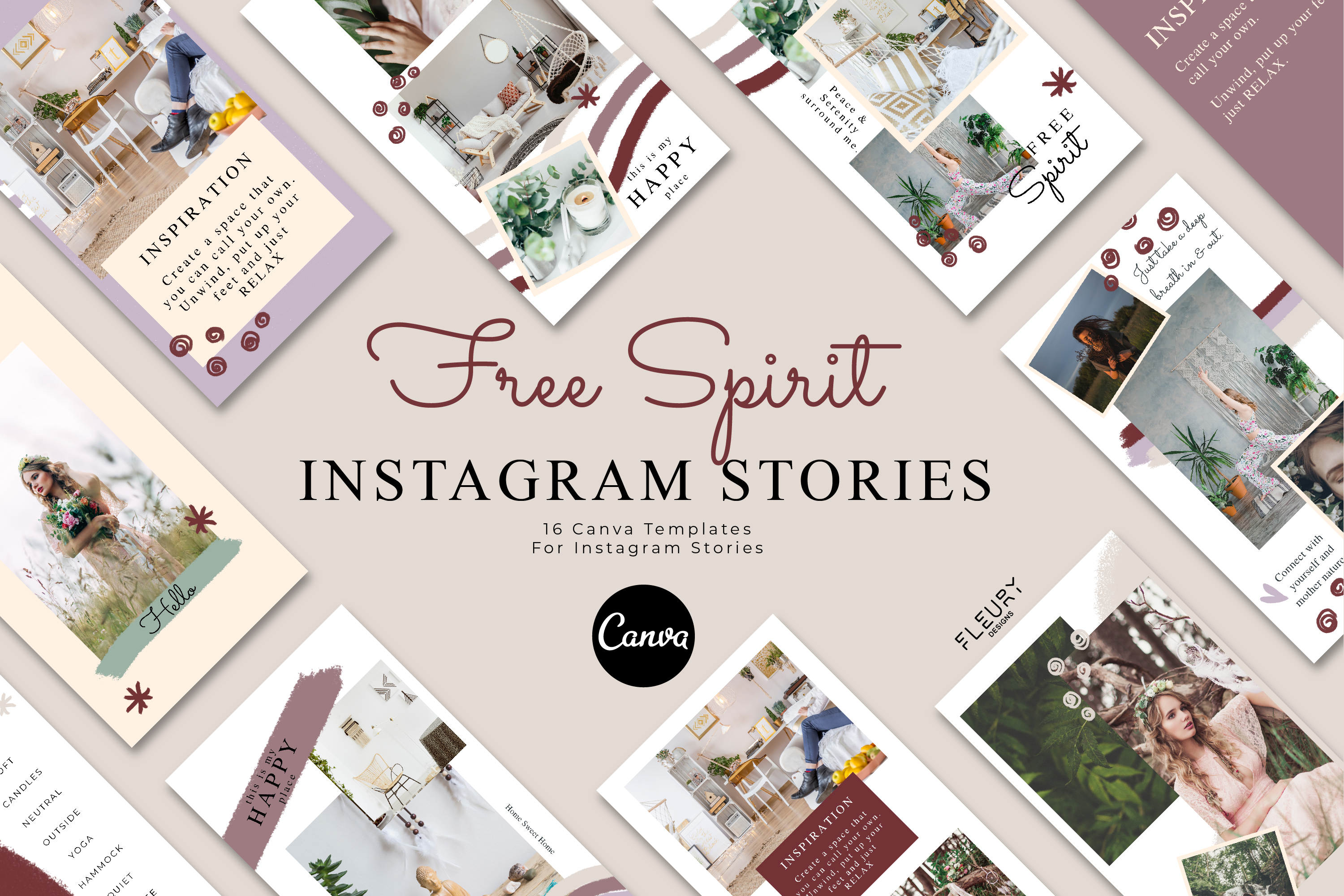 Instagram Story Canva Template - Free Spirit example image 1