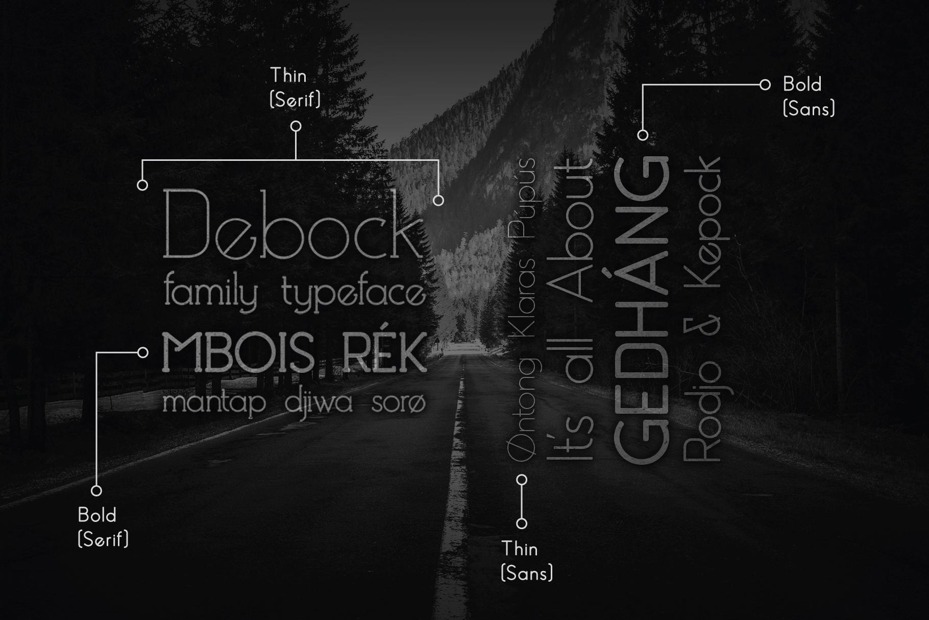 Debock Rounded Sans & Serif Font example image 7