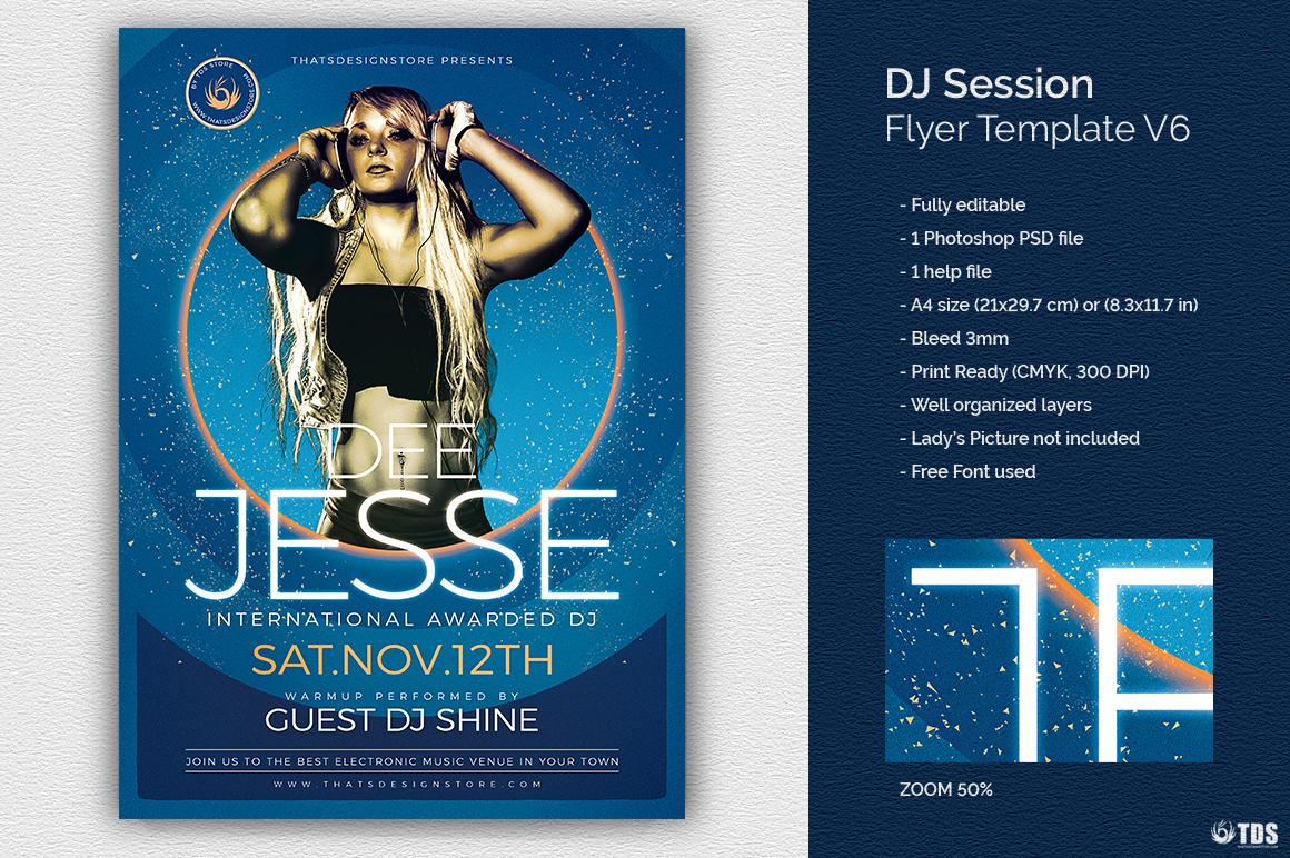 DJ Session Flyer Template V6 example image 1