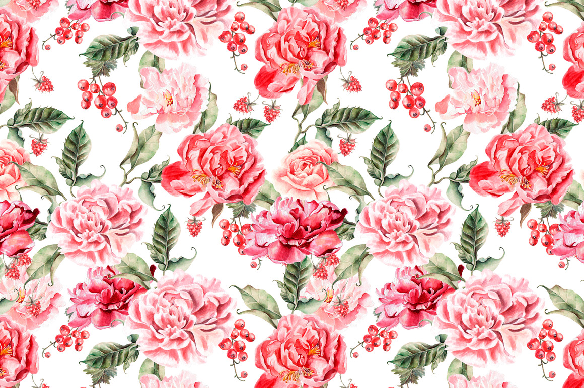 Hand Drawn Watercolor PATTERNS example image 5