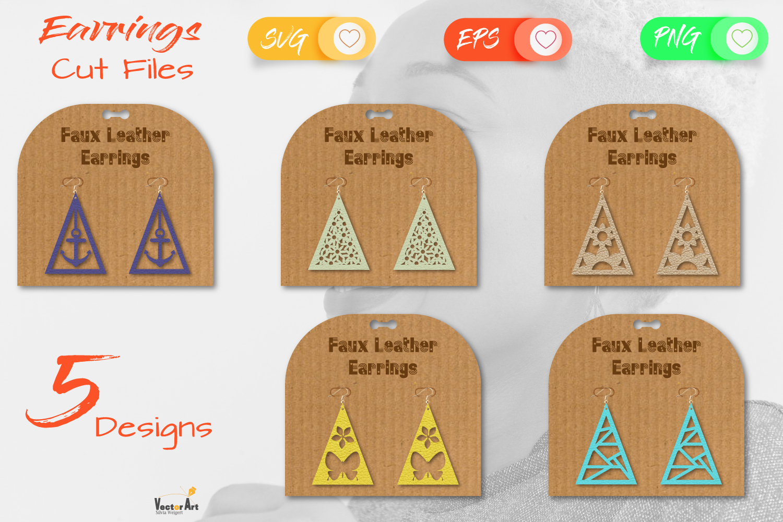 5 Earrings - Mini Bundle - Cut files example image 1