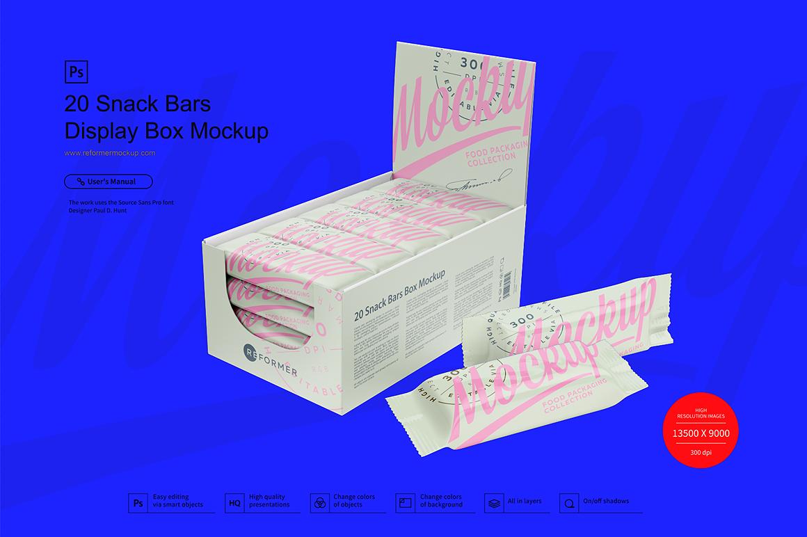 Display Box and Snack Bars Mockup example image 2