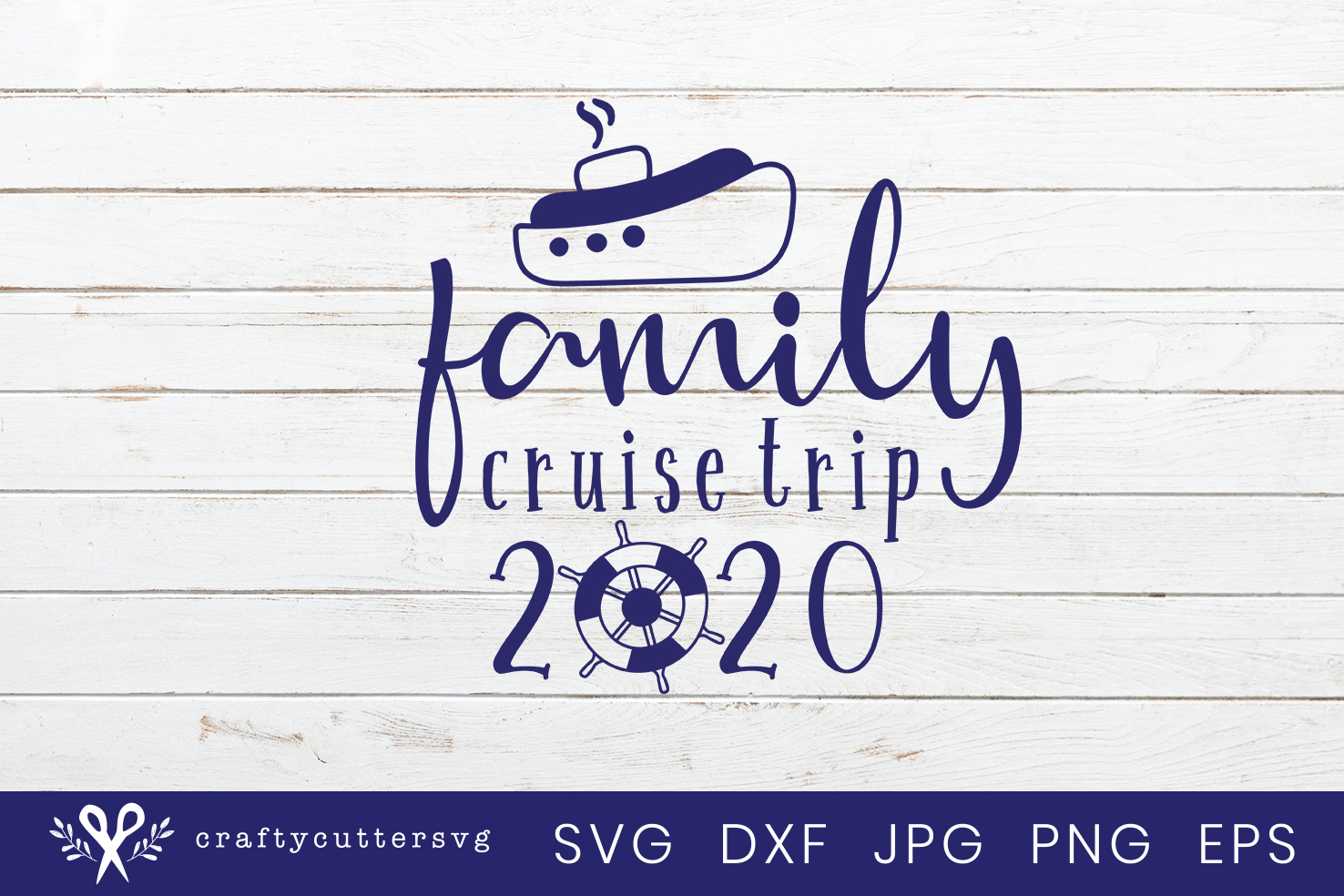 Family Cruise Trip 2020 Svg Cut File Ship Clipart example image 2