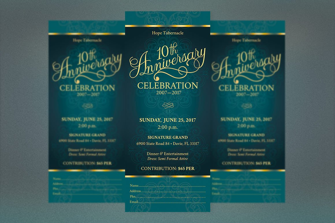 Church Anniversary Publisher Word Ticket Bundle example image 10