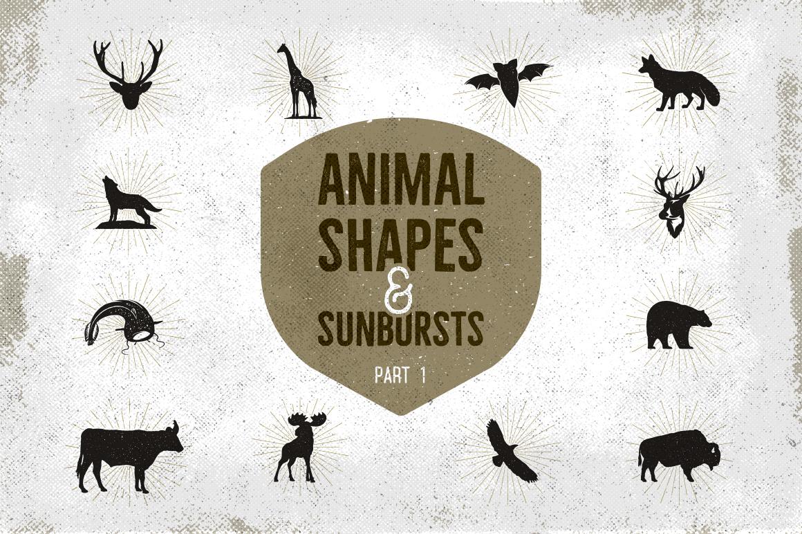 Animal Shapes & Sunbursts. Part 1 example image 1