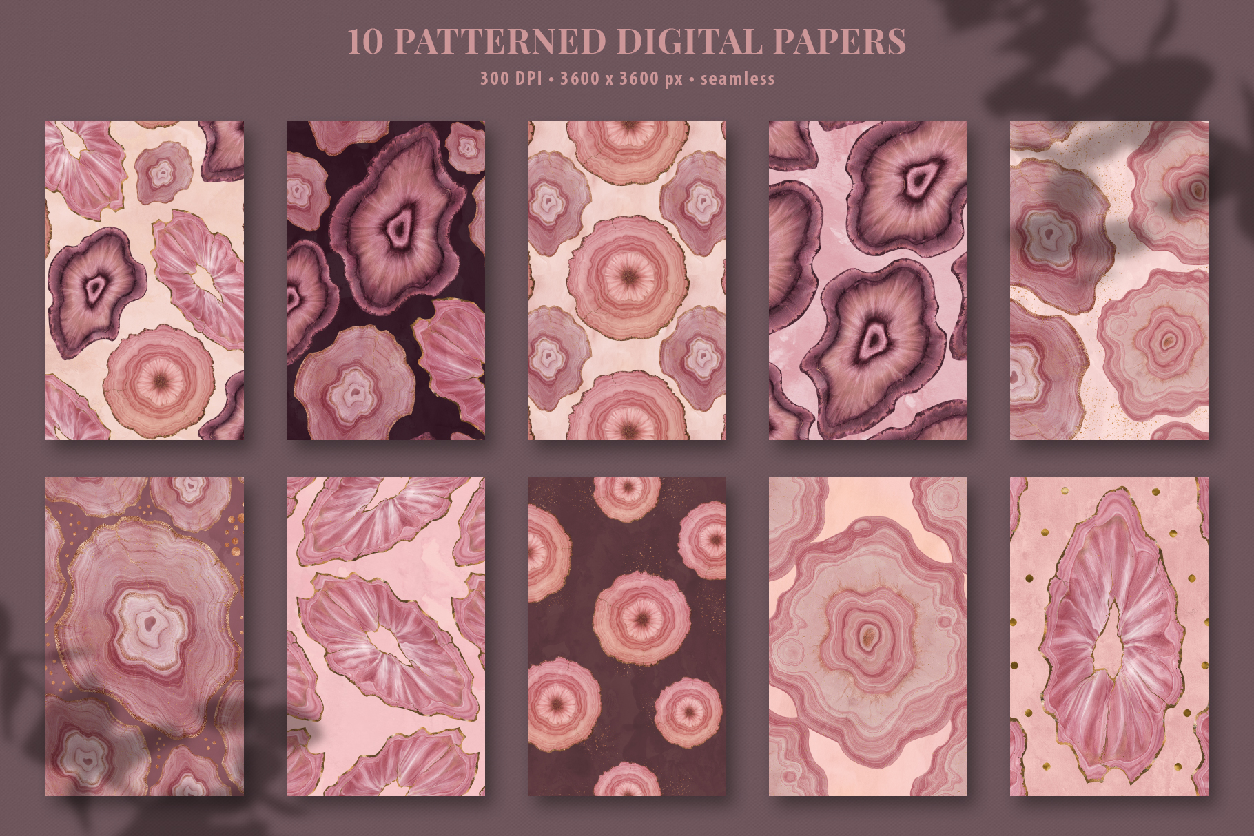 Pink Agate Illustrations, Textures & Patterns example image 21