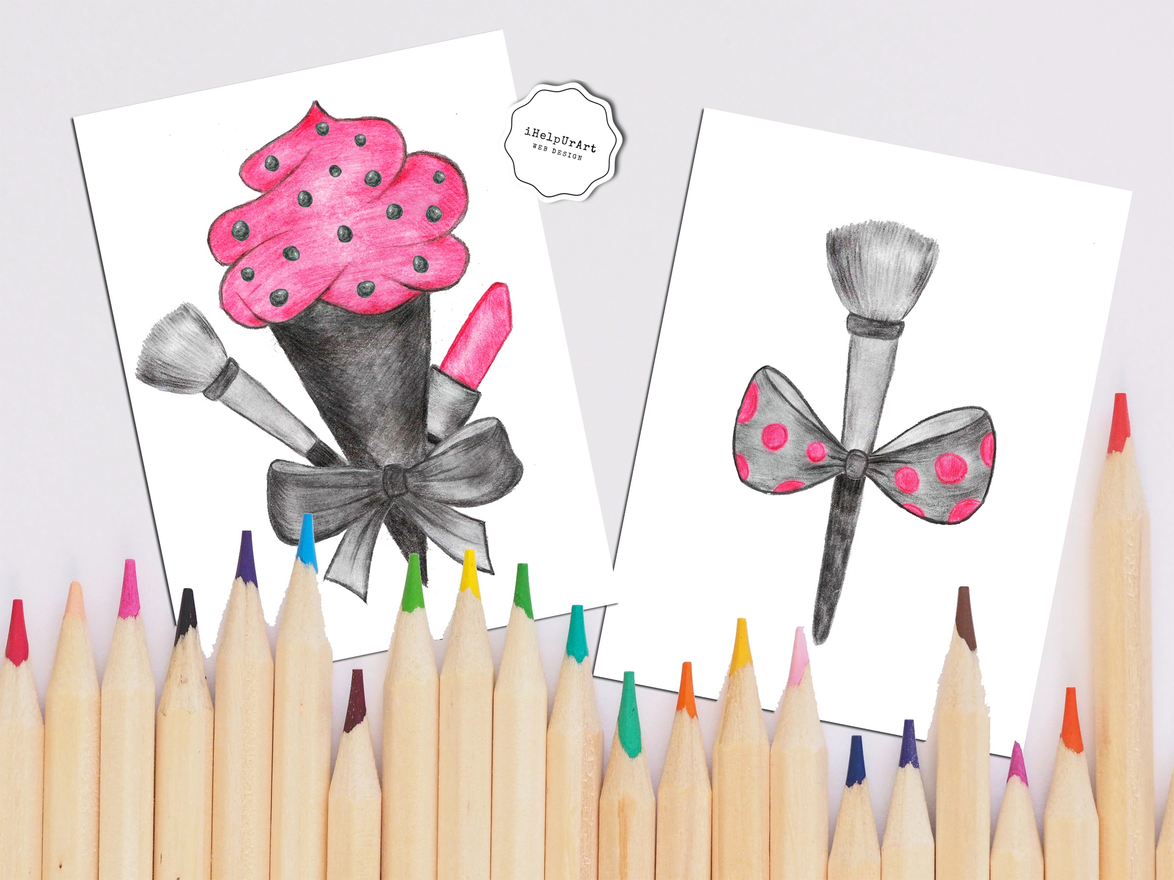 Hand Painted Make Up Clipart example image 3