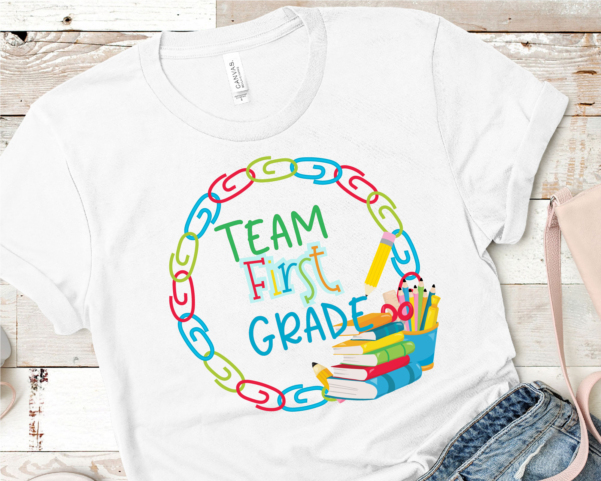 Team First Grade SVG, First Grade Tribe Sublimation example image 2