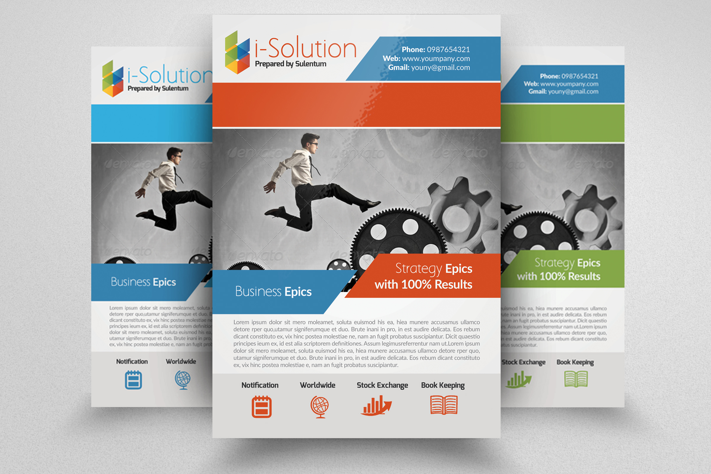 7 Corporate Business Flyers Bundle example image 7