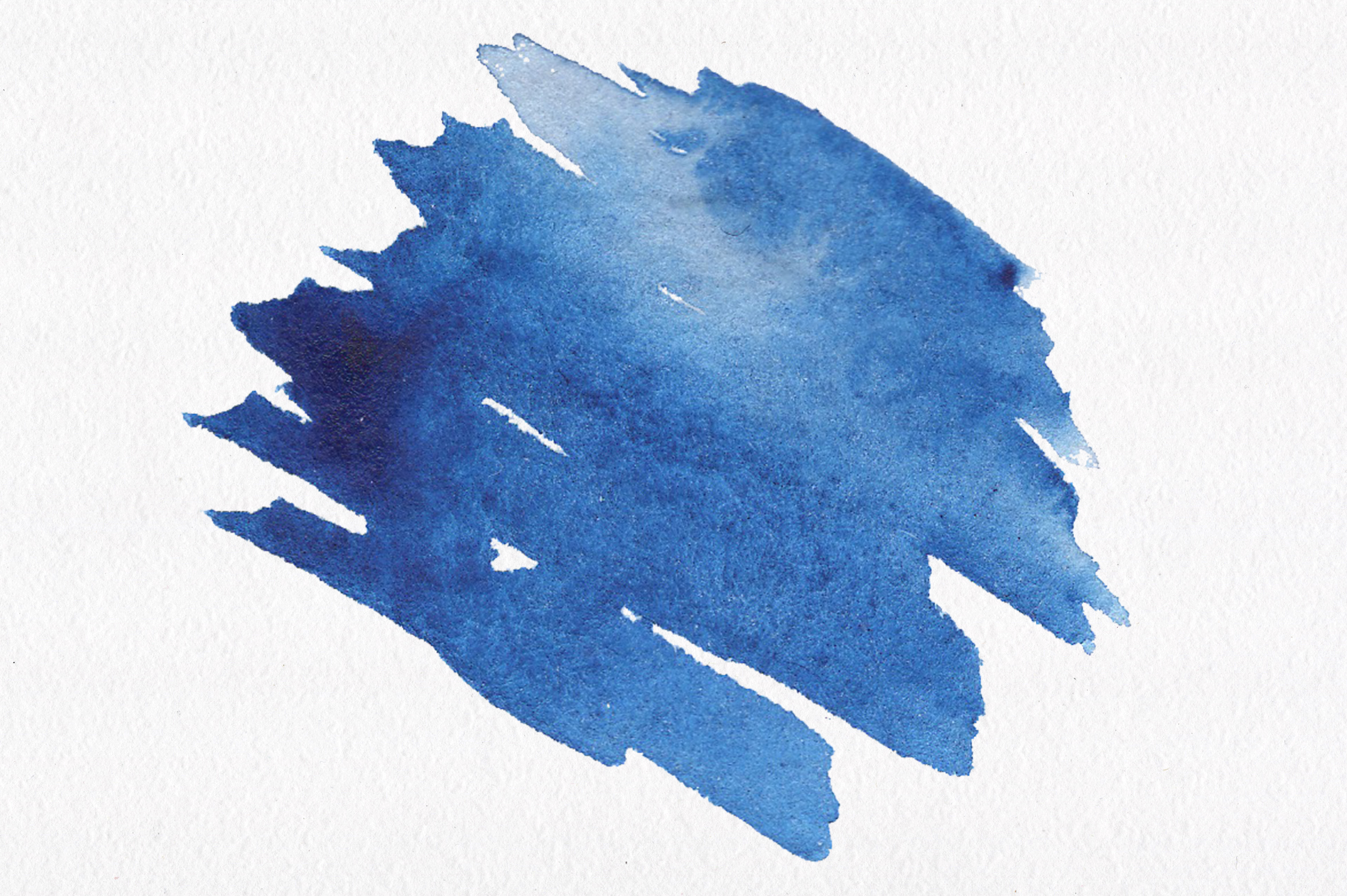 Blue watercolour seamless patterns set. example image 10
